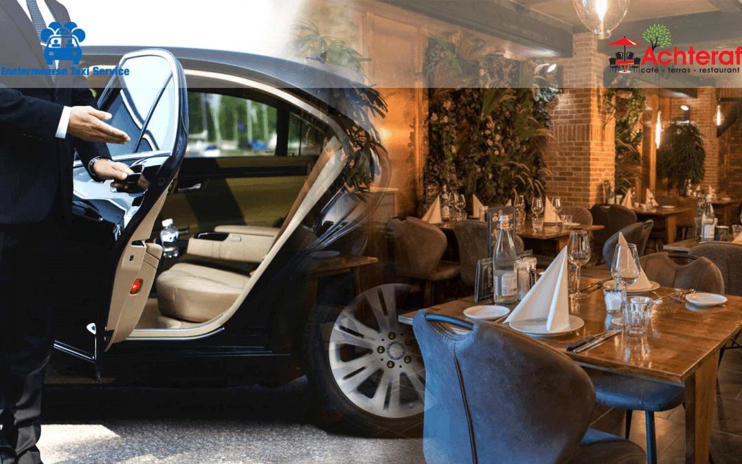 Samenwerking restaurant Achteraf en de Zoetermeerse Taxi Service